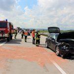 Feuerwehr Heiligenstadt bei Unfällen auf Autobahn 38 im Einsatz