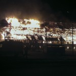 Historische Viehauktionshalle in Weimar abgebrannt: Funkenflug verursacht weitere Feuer von angrenzenden Gebäuden