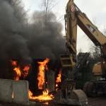 Industrieschredder in Gewerbegebiet Nohra komplett ausgebrannt
