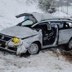 Neuschnee auf der Autobahn 71 führt zu schweren Verkehrsunfall