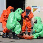 Verdampfen chemischer Lauge in einer Betriebshalle sorgt für Gefahrguteinsatz in Schmalkalden