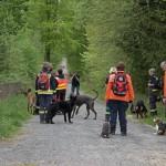 Großübung der Feuerwehren und der Rettungshundestaffel an der Zentralklinik Bad Berka