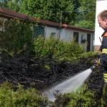 Feuerwehr musste brennende Hecke in Bad Berka löschen