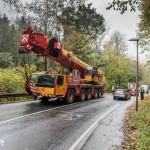 Technischer Defekt sorgt für Brand an Schwerlastkran bei Legefeld