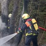 Brand eines Nebengebäudes auf dem Gelände der Sophienheilstätte bei Bad Berka