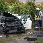 Frontalzusammenstoß bei Blankenhain fordert 6 Schwerverletzte