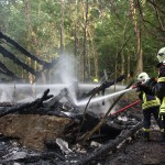 Brand bei Bad Berka sorgt für Großeinsatz der Feuerwehren
