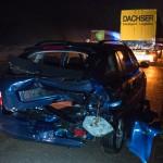 Unfall durch Unwetter auf der Autobahn 4 bei Magdala