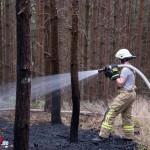 Waldbrand an schwer zugänglicher Stelle fordert Feuerwehren bei heißen Temperaturen