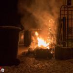 Mehrere Containerbrände sorgten in der Nacht für Feuerwehreinsätze