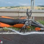 Motorradfahrer nach Zusammenstoß mit PKW lebensbedrohlich verletzt