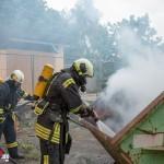 Absetzmulde brannte in Blankenhain in voller Ausdehnung