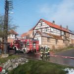 Wohnungsbrand in Dreiseitenhof in Engerda mit einer verletzten Person