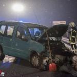 Vollsperrung der A 4 bei Nohra nach Unfall bei heftigen Schneefall