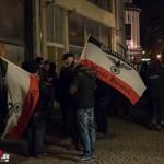 Polizei sichert Demo gegen Überfremdung in Apolda ab