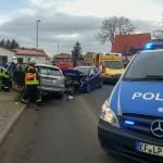 PKW geriet in Kleinromstedt in Gegenverkehr