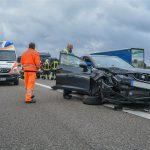 Verkehrsunfall auf der A71 nahe Meiningen mit 4 Fahrzeugen