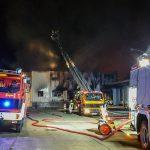 Großbrand auf dem Gelände des ehemaligen Milchhofs in Gera