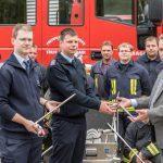 Übergabe Nebellöschsystem mit Löschlanzen an die Freiwillige Feuerwehr Blankenhain