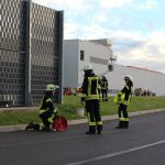 Feuerwehr übte bei Kaufland Fleischwaren