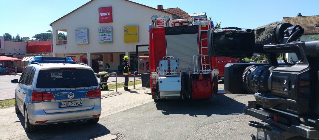 Evakuierung aufgrund Atemwegsreizungen im Penny-Markt in Gera