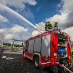 Großeinsatz der Feuerwehren beim Treibstofflager in Gera