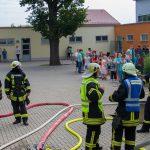 Einsatzübung der Feuerwehren in der Regelschule Blankenhain