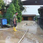 Wasser und Schlamm verwüsteten Teile von Schleiz nach starken Regenfällen