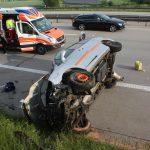 Fahrerin und fünf Kinder nach Überschlag auf der A4 nahe Ronneburg verletzt