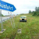 Fahrerin verliert bei Schmölln auf der A4 die Kontrolle über ihr Fahrzeug