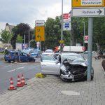 Unfallverursacher nach Frontalzusammenstoß in Jena geflüchtet