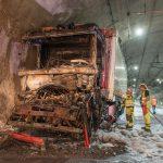 LKW Unfall mit Brandfolge im Jagdbergtunnel bei Jena
