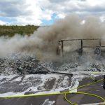 Brand eines LKW auf der A4 bei Jena mit Tunnelsperrung