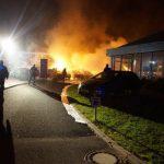 Großbrand auf dem Gelände eines Autohauses in Zella-Mehlis