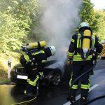 PKW-Brand zwischen Heiligenstadt und Kalteneber