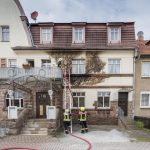 Balkonbrand griff auf Fassade eines Wohnhauses in Tannroda über