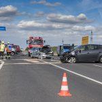 Unfall mit drei PKW an der Anschlussstelle der A4 bei Magdala
