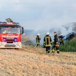 Brennender Misthaufen sorgt für Sichtbehinderung auf der B7 bei Umpferstedt