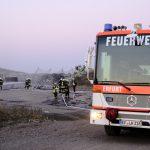 Brand auf dem Gelände der Deponie in Erfurt-Schwerborn