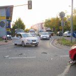 Kollision nach Rotlichtverstoß auf Kreuzung bei Klinik in Weimar