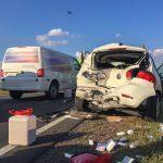 Verkehrsunfall mit vier schwer verletzten Personen bei Schwabhausen