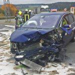 Verkehrsunfall mit vier schwer verletzten Personen bei Gefell
