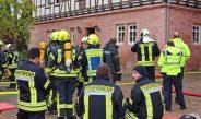 Brand einer Elektroverteilung im Verwaltungsgebäude in Hohengandern