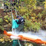 Öl auf Geislede hält Feuerwehr Heiligenstadt in Atem