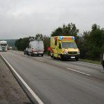 Verletzte Person nach Unfall wegen Rückstaubildung bei Mönchenholzhausen