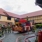 Brand in Wohnung eines Vierseitenhof in Dornheim