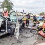 Zwei Personen nach Unfall bei Werratalkaserne in Bad Salzungen verletzt