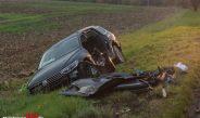 Vollsperrung der B85 nach schwerem Unfall bei Weimar-Schöndorf