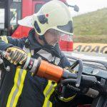 Infoveranstaltung des ADAC und der Feuerwehr zum Thema Rettungsgasse und Rettungskarten