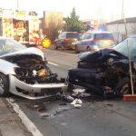 Schwer verletzte Personen nach Frontalzusammenstoß in Erfurt